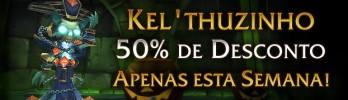 Mascote Kel'thuzinho com 50% de desconto!