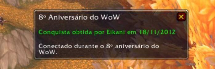 Celebração do 8° Aniversário do WoW!