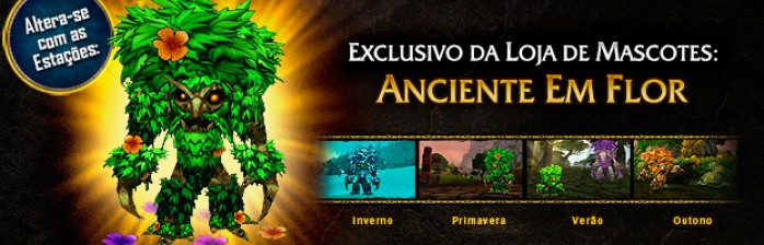 Novo mascote na Blizz Store: Anciente em Flor