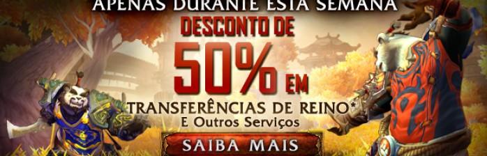 Serviços de Personagens com 50% de Desconto!