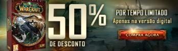 Mists of Pandaria com 50% de desconto