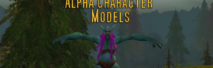 Novos modelos de raça: Alpha do WoW Classic x Warlords of Draenor