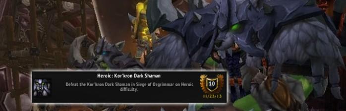 [PvE] Heróico: Xamã Sombrio Kor'kron