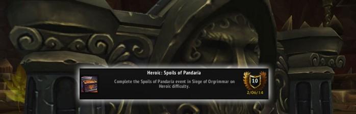[PvE] Heróico: Espólios de Pandária