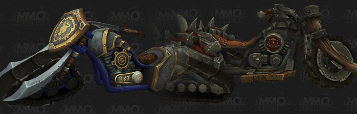 [Warlords of Draenor] Modelos ingame das motos do Azeroth Choppers