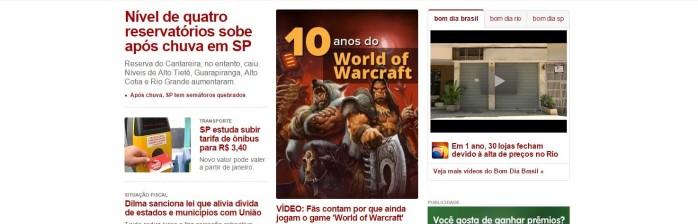 World of Warcraft em destaque no G1