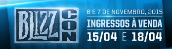 BlizzCon 2015 em 6 e 7 de novembro!