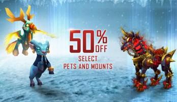 Mascotes e montarias da store com 50% de desconto!