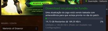 Download do Pré-patch começou!