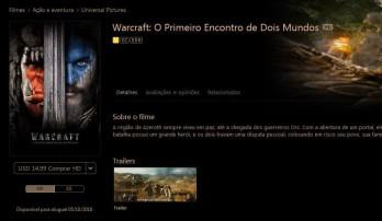 Filme de Warcraft disponível no iTunes