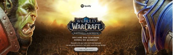 Playlists exclusivas para Horda e Aliança no Spotify!
