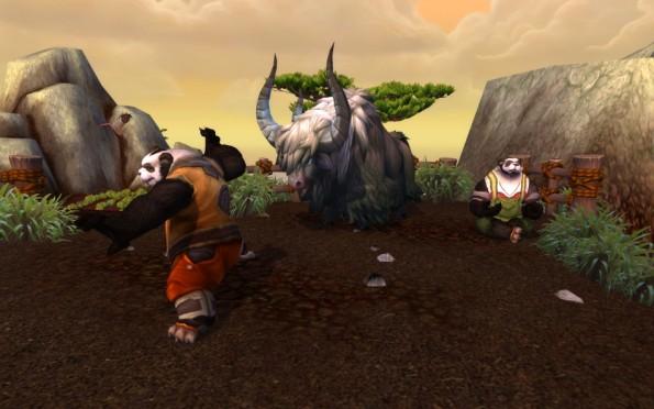 World of Warcraft Mists of Pandaria  Mists-of-Pandaria-Pandaren-Farmers-595x372