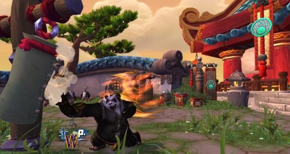 Mists of Pandaria -- Pandaren Monk Striking Target Dummy