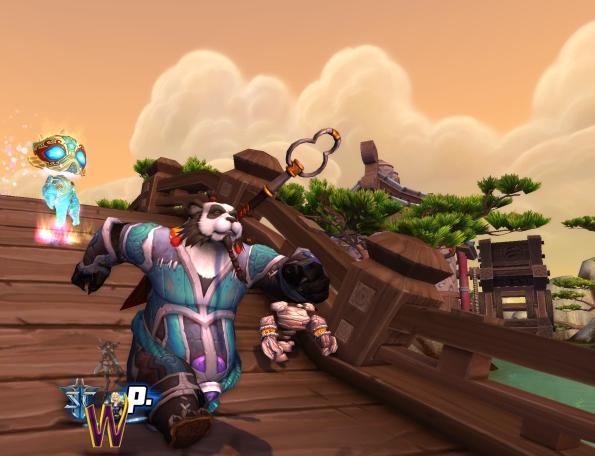 Mists of Pandaria -- Pandaren Monk and the Spirit of Water