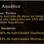 Família: Aquático (aquatic). Efeitos nocivos de dano ao longo do tempo são reduzidos em 25%.