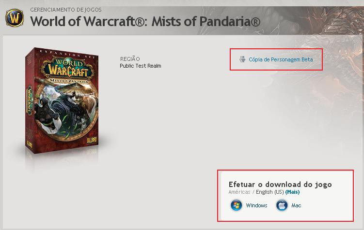 wow how to download ptr