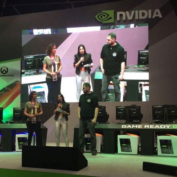 Eikani e Umildassow no palco da nvidiabrasil na BGS! Sehellip