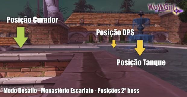 modo desafio monasterio escarlate posicao 2 boss