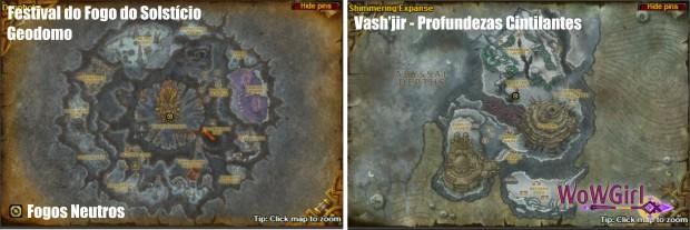 Mapa Cataclismo - Vash'jir e Geodomo