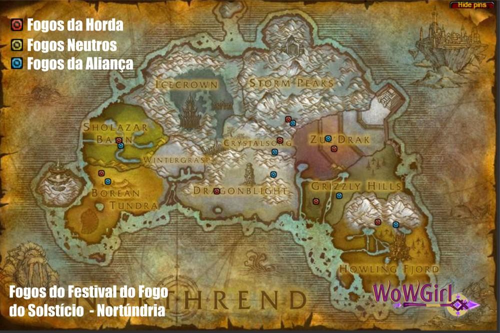 Mapa Nortúndria