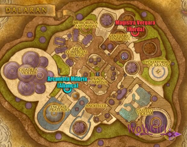 Mapa Dalaran Vendors