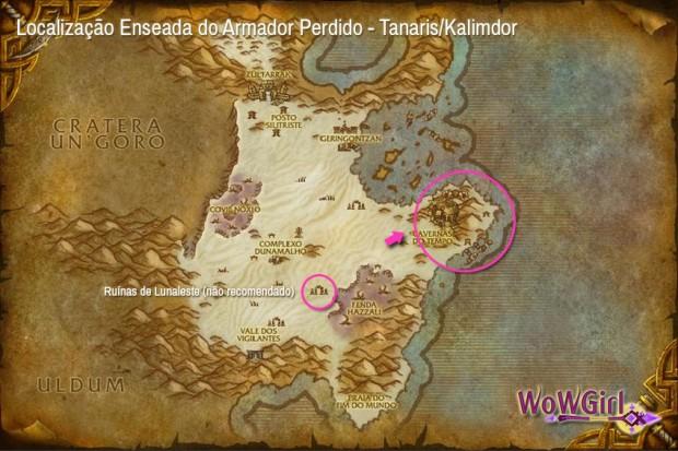 Enseada do Armador Perdido Mapa