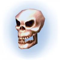crânio fantasmagórico
