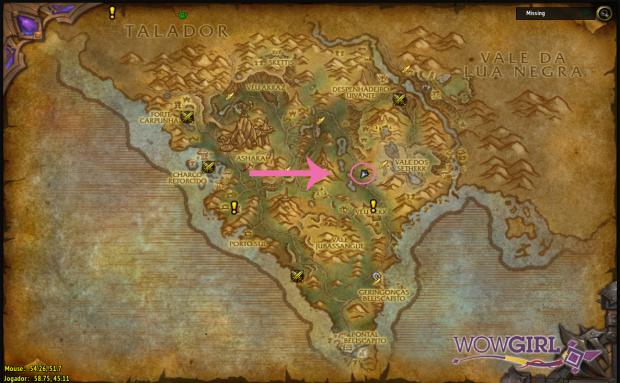 Localização Agulhas de Arak