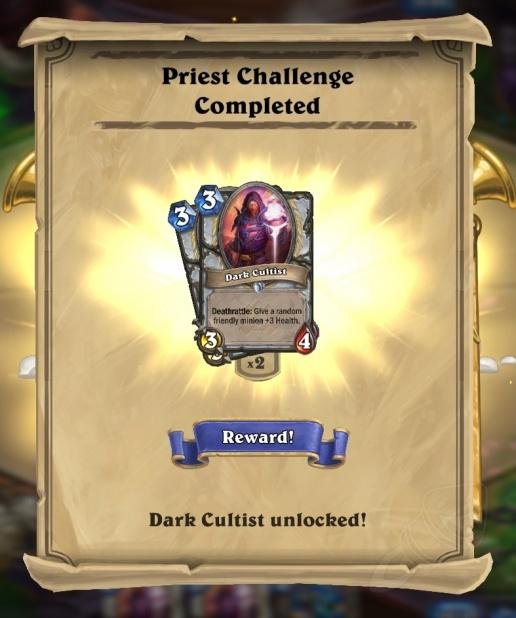 Desafio do Sacerdote Completado