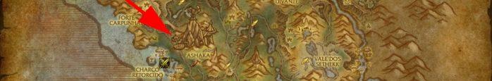Beira-céu - Localização