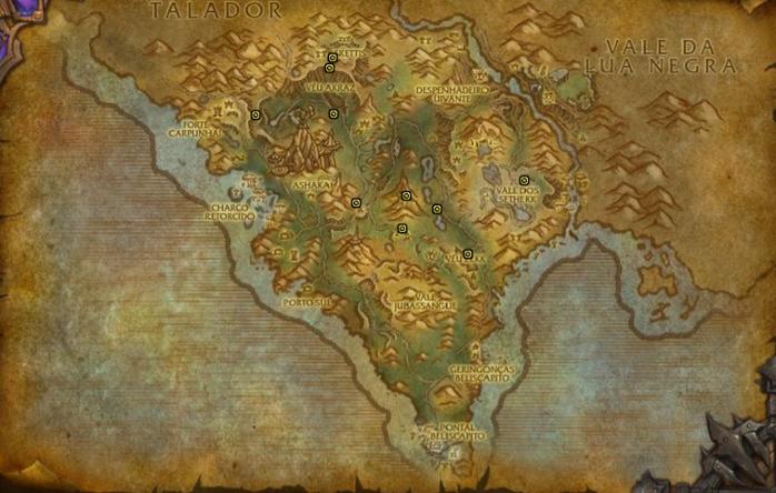 agulhas de arak mapa tesouro