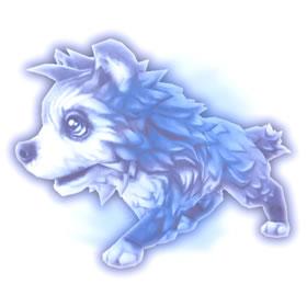 Fantasma de filhote de lobo de gelo