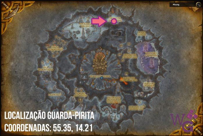 Localização Guarda Pirita