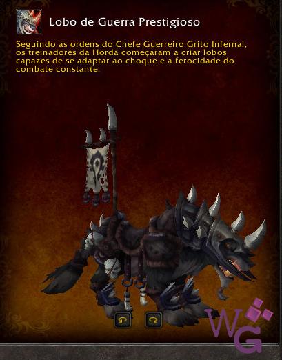 Lobo de Guerra Prestigioso - Montaria Legion