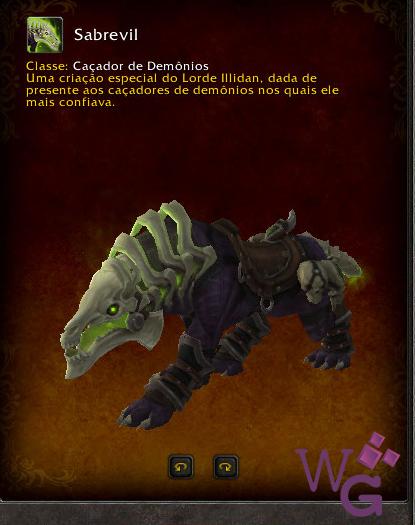 Montaria Sabrevil - Caçador de Demônio - Legion