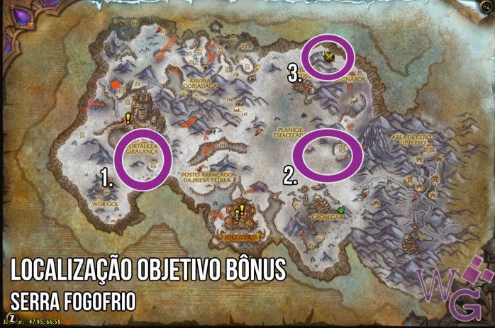 Objetivo bônus - Serra Fogofrio